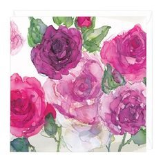 Border of Roses Floral Greeting Card