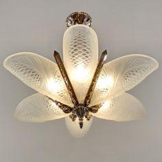 Degue: French Art Deco Chandelier