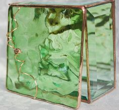 Stained Glass Jewelry Box Peridot Green by GaleazGlass $36   http://www.etsy.com/listing/81833827/stained-glass-jewelry-box-peridot-green