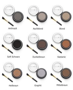 Brow Henna Brows - Augenbrauen Make-up, Augenbrauenfarbe & Mehr Henna Brows, Eyeshadow, Make Up, Cosmetics, Beauty, Perfect Brows, Medium Brown, Fashion Beauty, Eyelashes