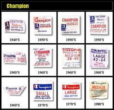 Guide to Vintage Champion Labels and Tags