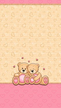 By Artist Unknown🇺🇸. Pretty Phone Wallpaper, Cover Wallpaper, Hello Kitty Wallpaper, Bear Wallpaper, Wallpaper Iphone Disney, Animal Wallpaper, Cellphone Wallpaper, Cute Backgrounds, Cute Wallpapers
