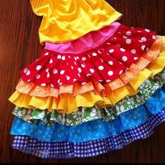 Elena would love this Rainbow Ruffle Skirt