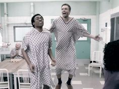 Jeff and Troy at the fictional Greendale Asylum