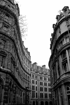 Old style - black and white London architecture