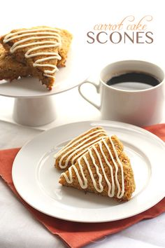 Healthy sugar-free and grain-free Carrot Cake Scones - perfect for your Easter brunch menu.