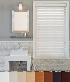 Our new faux wood blinds are eco-friendly and crafted from quality foamwood. Available in 8 distinguished finishes. #interiordesign #homedecor