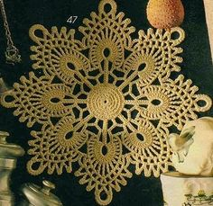 Beautiful Peacock star crochet motif doily, free diagram. More Great Patterns Like This