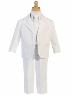 Little Gents White 5 Piece Suit