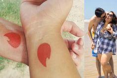 Casal se conhece pelo Tinder e faz tatuagem - http://metropolitanafm.uol.com.br/novidades/life-style/casal-se-conhece-pelo-tinder-e-faz-tatuagem