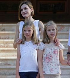 King Felipe and Queen Letizia Annual Summer Photocall at Marivent Palace