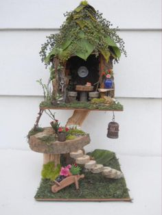 Tri-Level Fairy house