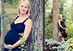 maternity pose. Love the woods