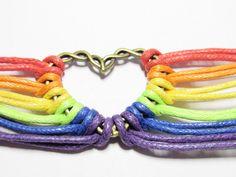 Gay Pride Bracelet, Rainbow Bracelet, Multi-layer Rainbow Bracelet, LGBT Bracelet, Leather Bracelet, LGBTQ Bracelet