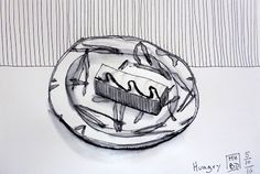 MHBD's Blog: Hungry Urban Sketching, Inktober, Objects, Drawings, Blog, Painting, Painting Art, Sketches, Blogging