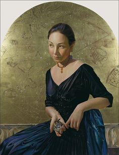 Becca ( Sundial),Fred Wessel Tempera w. Gold, Silver and Palladium Leaf