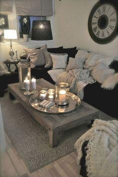 9 Elegant Apartment Living Room Home Decor Ideas to Copy Easily www.goodnewsarch… 9 Elegant Apartment Living Room Home Decor Ideas to Copy Easily www. Living Room White, Cozy Living Rooms, Living Room Grey, Cute Living Room, Simple Living Room Decor, Condo Living Room, Living Area, Living Spaces, Apartment Decorating On A Budget