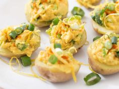 """Vegan Deviled Eggs - Smoky Little Devils: """"These tiny stuffed potatoes are absolutely beautiful, and, oh so delicious as hors d'oeuvres or the center part of a meal. Be sure the potatoes are tiny. Plant Based Diet, Plant Based Recipes, Egg Recipes, Whole Food Recipes, Easter Recipes, Clean Recipes, Organic Recipes, Brunch Recipes, Sweet Recipes"""