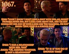 I think Spike had more of a relationship with Buffy than Angel did.