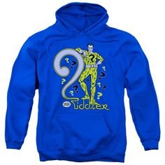 Dc - The Riddler Adult Pull Over Hoodie