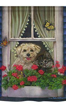 Harriet Bee 'Faithfully Yours' Print Format: Cafe Espresso Framed Paper, Size: H x W x D Canvas Frame, Canvas Art, Canvas Prints, Canvas Size, Personalised Canvas, Tier Fotos, Arte Pop, Cat Art, Painting Prints