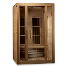Golden Designs Maxxus Seattle Edition 2 Person Low EMF FAR Infrared Carbon Canadian Hemlock Sauna Infrared Heater, Infrared Sauna, 2 Person Sauna, Canadian Hemlock, Steam Sauna, Tempered Glass Door, Golden Design, Thing 1