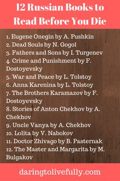 12 Russian books to read before you die in order to be well-read.