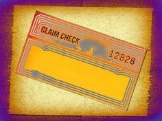 Claim Check ~ image by Billy Frank Alexander