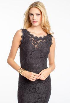 Illusion Neck Scallop Trim Lace Dress #camillelavie