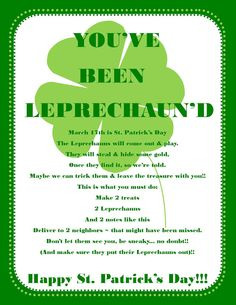 BellaGrey Designs: You've Been Leprechaun'd