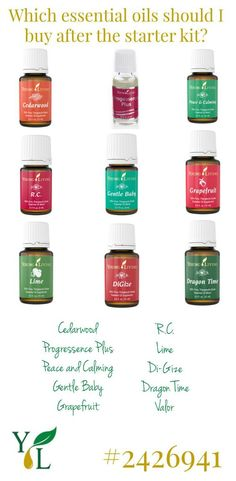 young living essential oils to buy after the starter kit