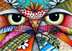 owl - one with color