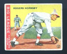1933 Goudey 119  Rogers  Hornsby  by CampHillCollectibles on Etsy, $125.00