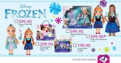 """♬ """"Do you want to build a snowman?"""" ♪  It might be summer but our #Frozen range will let transport you into a winter wonderland with everyone's favourite Ice Queen and her little sister. #FantasticFriday #LetsPlay"""