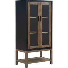 Shop Tommy Hilfiger Elmhurst Storage Cabinet Black and Weathered Grey - Free Shipping Today - Overstock - 26284664