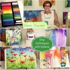 We're SO excited about our first ever video series with Donna Downey! The first episode will be about one of her favorite techniques- Gelatos drips! Our friends at My Craft Channel are also doing a fabulous Design Memory Craft giveaway worth $400 so hop over to their blog!