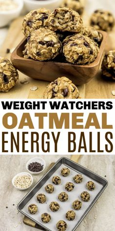These Weight Watchers Energy Balls only have 5 ingredients and are just 1 Freestyle SmartPoint per energy bite! This is a quick recipe for busy people. # weight watchers desserts Weight Watchers Energy Balls - Life is Sweeter By Design Weight Watcher Desserts, Weight Watchers Snacks, Weight Watcher Dinners, Petit Déjeuner Weight Watcher, Plats Weight Watchers, Weight Watchers Meal Plans, Weigh Watchers, Weight Watchers Breakfast, Weight Watchers Chili