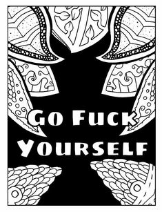 Funny Swear Word Coloring Page For Adults
