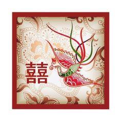 Chinese wedding invitation keywords weddings vintage red phoenix chinese wedding invitation stopboris Images