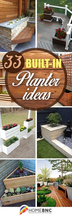 Built-in planter designs can easily transform your outdoor living space from boring to beautiful. When you add these planters to your backyard, deck, or patio, you can add lots of greenery while saving on space. That is why these 33 built-in planter ideas are perfect for smaller outdoor living...