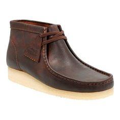 Men's Clarks Wallabee Boot (Red) Leather (US Men's 6 M (Regular))