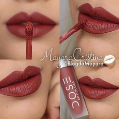 PERFECT RED -- This brick shade of red is more muted and perfect for matching with a more adventurous eye look. It has more brown and orange in it.