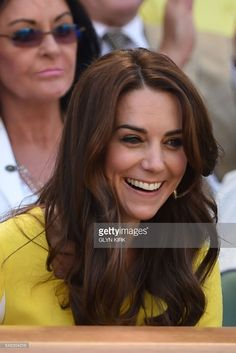 Britain's Catherine, Duchess of Cambridge watches the women's semi-final match on the eleventh day of the 2016 Wimbledon Championships at The All England Lawn Tennis Club in Wimbledon, southwest London, on July 7, 2016. / AFP / GLYN