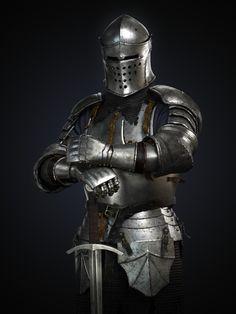 Medieval Knight by grayrush Medieval Tattoo, Medieval Armor, Medieval Fantasy, Vikings, Fantasy Character Design, Character Art, Knight Tattoo, Crusader Knight, Armadura Medieval