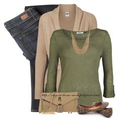 """""""Leopard Flats & Olive Top"""" by amber-1991 ❤ liked on Polyvore featuring Paige Denim, Vero Moda, ONLY, Alberta Di Canio, CA&LOU, Roberto Coin, women's clothing, women, female and woman"""