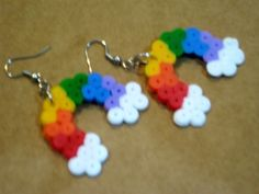 Rainbow Pixellette Earrings.