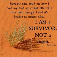 I am a survivor of sexual abuse as a child. I will no longer keep it locked inside, where it can eat away at me. I release this so I can help others overcome their feelings of shame, embarrassment and self loathing. I am free!