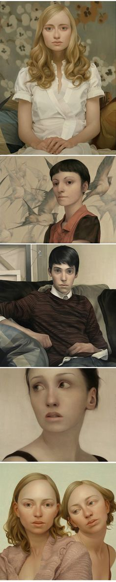 Paintings by Lu Cong; these have a very different feel about them....not the usual portraits at all.