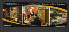 Undated Unused Postcard Crystal on Historic Penn Square Restaurant Reading PA