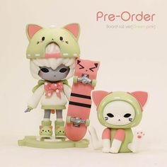Items similar to abiru limited edition (Board cat ver) on Etsy 3d Figures, Vinyl Figures, Action Figures, 3d Model Character, Character Design, Character Concept, Kawaii Crush, Japanese Toys, Anime Figurines